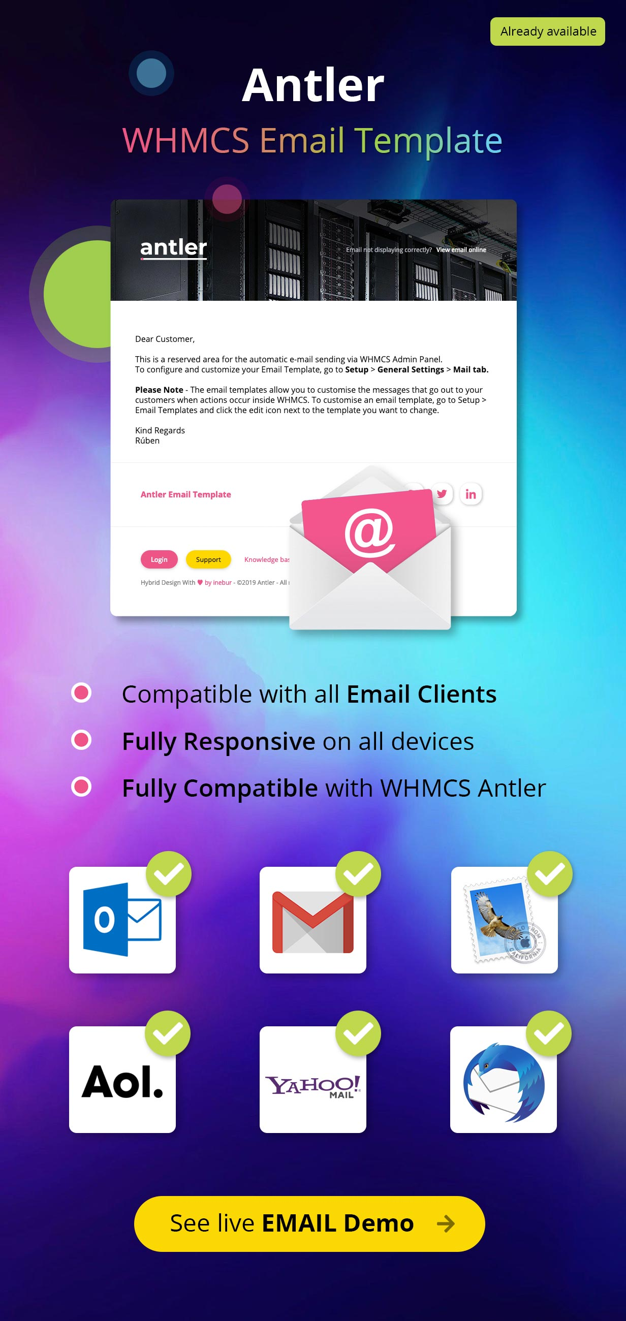 whmcs email template